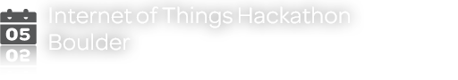 Internet of Things Hackathon - Boulder